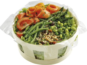 Panier salade légumes céréales