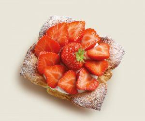 Délice croustillant aux fraises